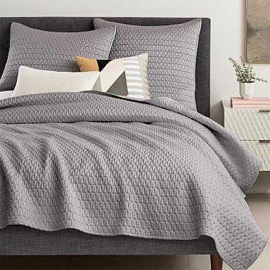 Modern Quilts Coverlets West Elm In 2020 West Elm Bedroom Decor Grey Bedroom Decor Grey Bedroom With Pop Of Color