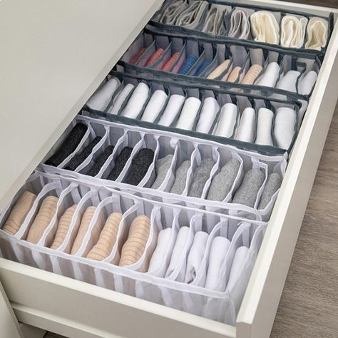 Dormitory closet organizer for socks home separated underwear storage box - Style2-24grids / China