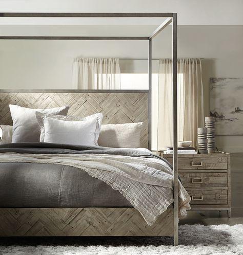 Loft Metal Canopy Bed
