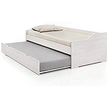 Massivholz Gastebett Aus Kernbuche Weiss Ausziehbares Doppel Bett