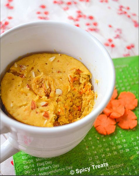 Spicy Treats: Carrot Mug Cake / Microwave Carrot Cake ~ Eggless!!