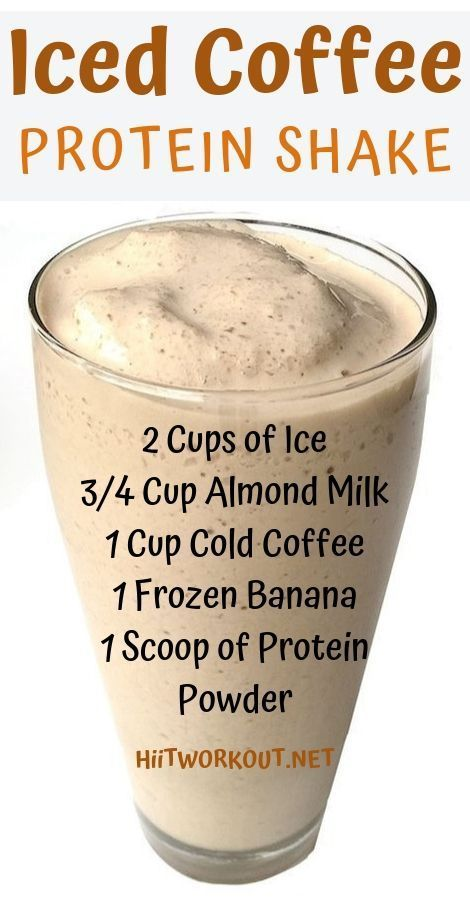 It is super filling (holds over until lunch), low in calories, high in protein, and the perfect morning drink and weight loss! Protein Desserts, High Protein Snacks, Protein Brownies, Protein Muffins, Protein Dinner, Protein Smoothies, Fruit Smoothies, Coffee Protein Smoothie, Protein Bread