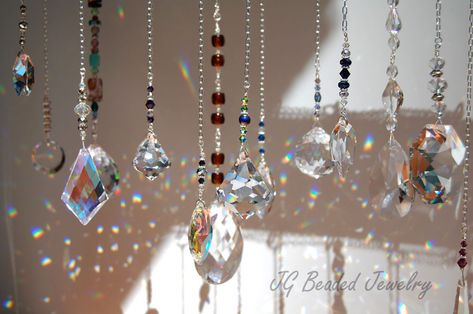 Crystal Hanging Pendant Rainbow Sun Catcher Chandelier Parts DIY Decor Ornament