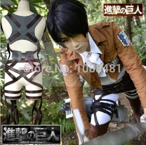 Cosplay Attack On Titan Shingeki no Kyojin Adjustable Straps Belts Harness Recon