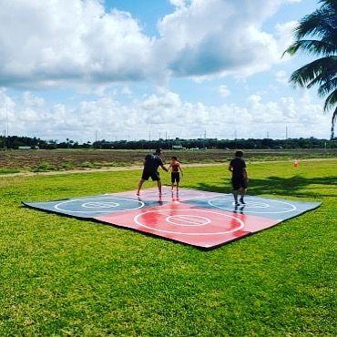 Outdoor Wrestling Mat In 2020 Mma Gym No Equipment Workout Jiu Jitsu