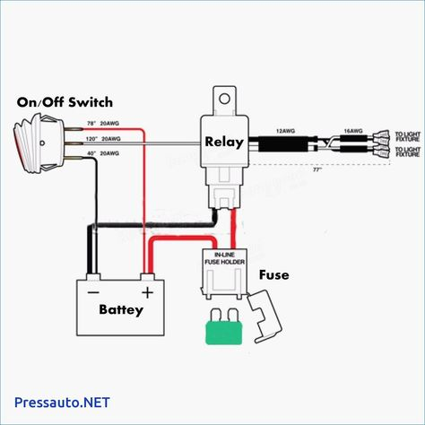 [FPWZ_2684]  LED Light Bar Relay Wire Up At Wiring Diagram For 12V Led Lights In |  Motorcycle wiring, Light switch wiring, 12v led lights | Light Bar Switch Wiring Diagram |  | Pinterest
