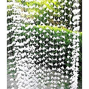 72 Inch White Polyester Garland Curtain Decorators Ambiance Setter Flower Garland Summer Party Ceremony Backdrop Wedding Reception Wedding Photo Prop Decor Amazon Wedding Decor Wedding Photo Props Save Money Wedding