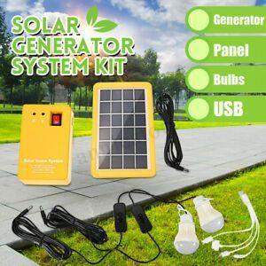 Solar Power Panel Generator Led Light Usb Charger Home System Outdoor Garden Us Solarpanels Solarene In 2020 Solar Power Energy Solar Power Panels Solar Energy System