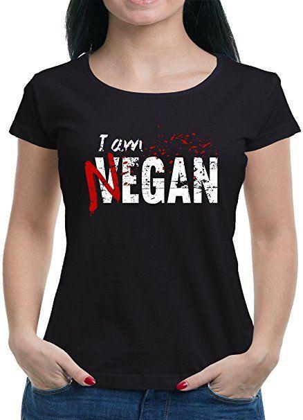 943746958ebeb TLM I am Negan T-Shirt Damen S Schwarz tshirt sprüche lustig t-shirt ...