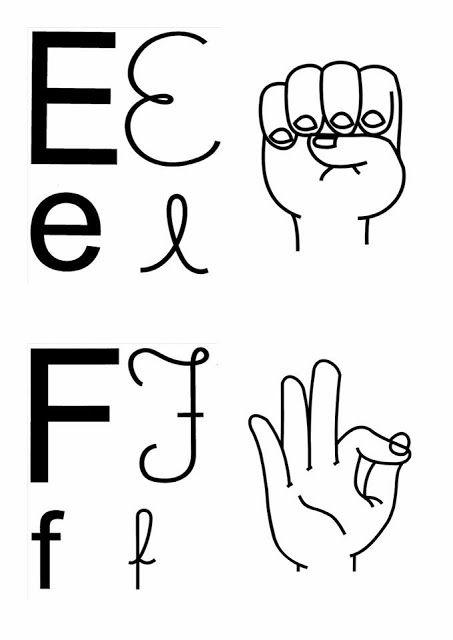 Alfabeto Em Libras Com Quatro 4 Tipos De Letras Para Imprimir