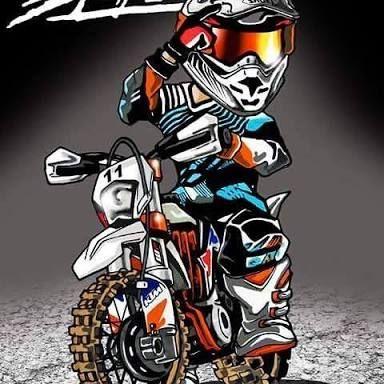 Hasil Gambar Untuk Ktm Motocross Motor Trail Kartun Objek Gambar