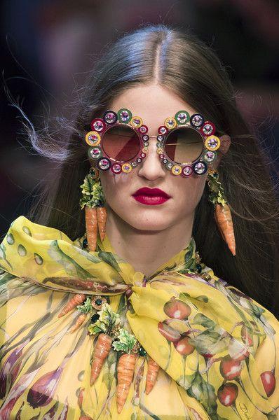 Dolce & Gabbana at Milan Fashion Week Spring 2018 - Milan's Best Runway Bling for Spring 2018 - Photos