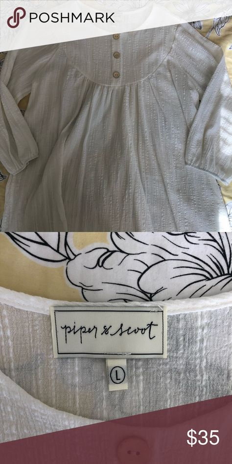 PIPER AND SCOOT Blouse SZL NWOT. Piper and Scoot size L blouse. Never worn. NWOT. Smoke free/pet free home Piper & Scoot Tops Blouses