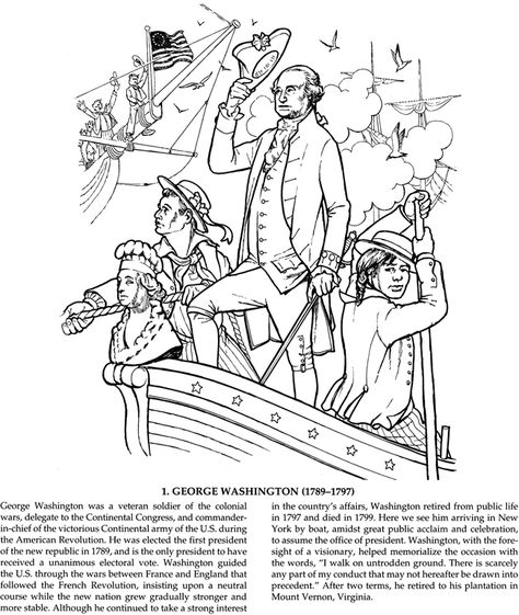 10 Best George Washington Coloring Pages For Toddlers 1st Grade