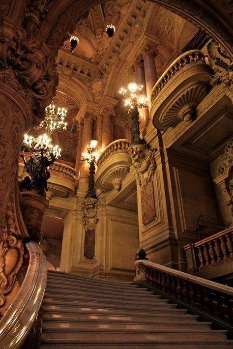 Staircase, The Opera House, Paris, France foto por raquel Baroque Architecture, Beautiful Architecture, Architecture Design, Opera House Architecture, Architecture Board, Japanese Architecture, Ancient Architecture, Beautiful Buildings, Arquitectura Wallpaper
