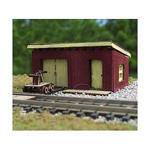 Maintenance of Way Shed (Wooden Kit) | N Scale Model