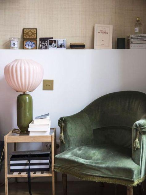 pale pink & green vintage home furnishings. / sfgirlbybay