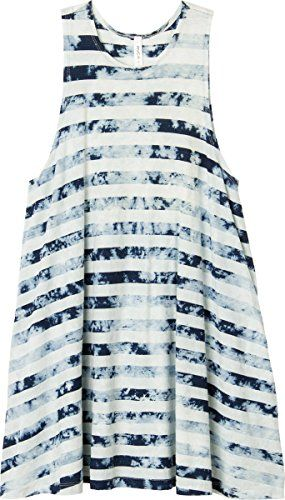 RVCA Juniors Abel Jersey Swing Tie Dye Dress with Side Pockets White Large -- You can find out more details at the link of the image.