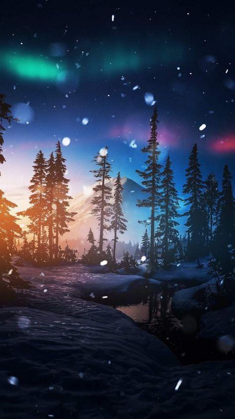 Winter Night iPhone Wallpaper - iPhone Wallpapers