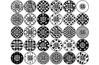 Download Circle Monogram Frames Svg Files Circles Patterns Svg Png Free Di 2020