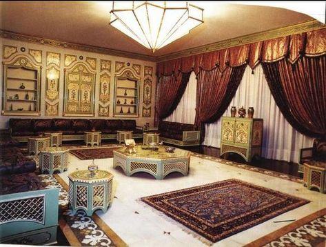 كنبات مجالس رجال ونساء فخمة مغربي وخليجي قصر الديكور Moroccan Living Room Home Decor Home