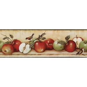The Wallpaper Company 6 83 In X 15 Ft Red And Green Apples And Birds Border Wc1283066 At The Home Bird Wallpaper Wallpaper Border Kitchen Wallpaper Companies