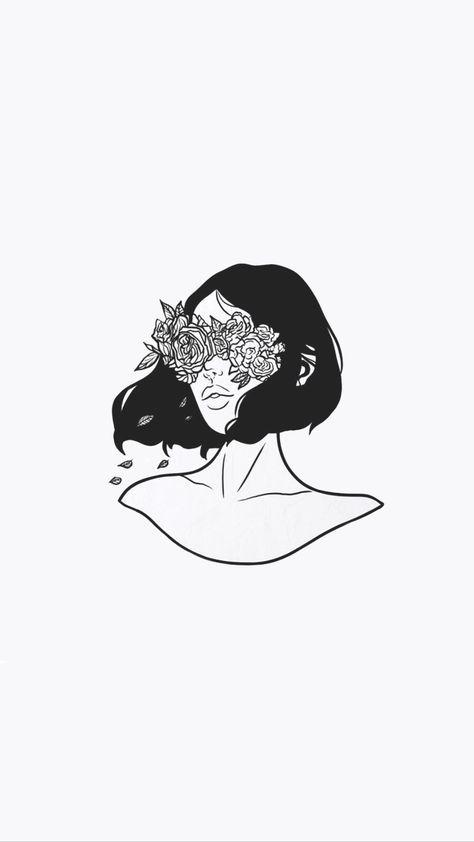 52 Ideas Wallpaper Phone Tumblr Black Girl For 2019 Drawings Flower Drawing Iphone Wallpaper Pinterest
