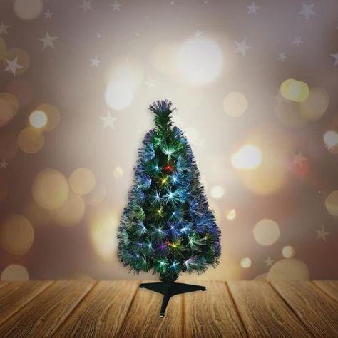 Sapin de Noël artificiel Fibre optique New York   55 LED   55