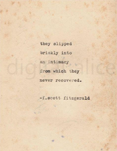 VINTAGE TYPEWRITER PRINT f Scott Fitzgerald Quote Wall Art | Etsy