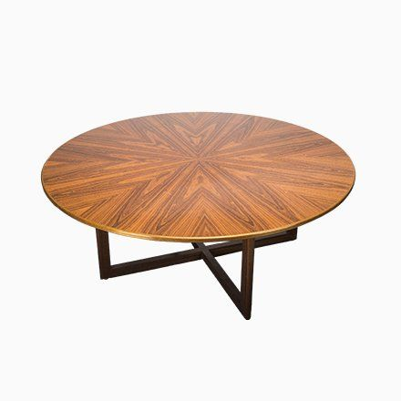 Vintage German Round Rosewood Dining Table 1960s Dining Table
