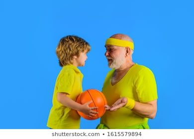 Grandfather Teaching Grandson To Play Basketball Family Time Grandfather And Kid Playing Family Sport Portrait Of Hea In 2020 Family Stock Photo Grandsons Teaching