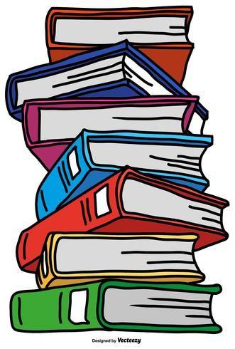 Vector Pila De Libros De Estilo De Dibujos Animados De Color Imagenes De Libros Animados Libro De Estilo Libros