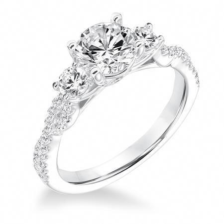 31 10036 E Contemporary Diamond Three Stone Twisted Shank Engagement Ring 3 Stone Matchi Stone Engagement Rings Diamond Engagement Rings Ruby Engagement Ring