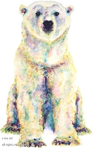 Northern Light By V Rae X Polar Bear Art Alaskan Artist Bear Paintings