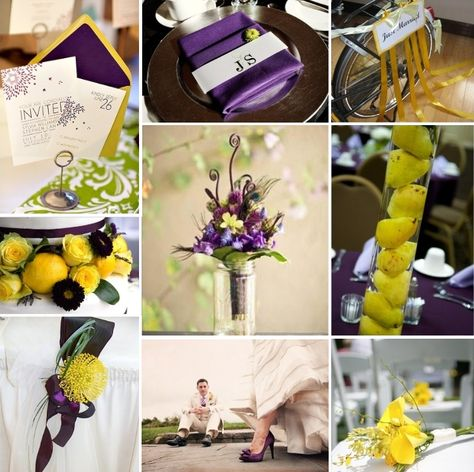 Purple & Yellow...beautiful wedding combo!