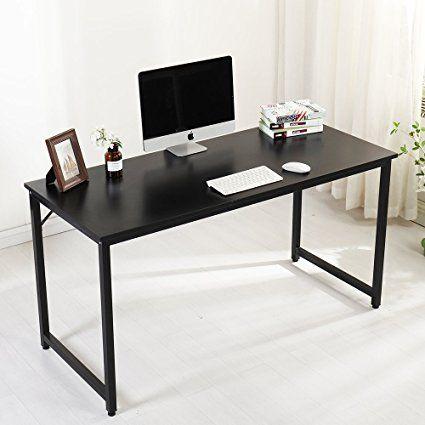 Beautiful Soges Computer Desk Office Desk Writing Desk Workstation Wood Black 55 Office Computer Desk With