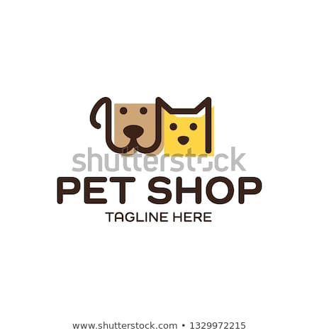 Vector Pet Shop Logo Design Template Modern Animal Icon Label For