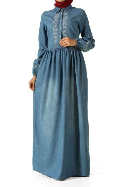 Allday Tesettur Kot Elbise Modelleri Kot Elbiseler Elbise Modelleri Elbise