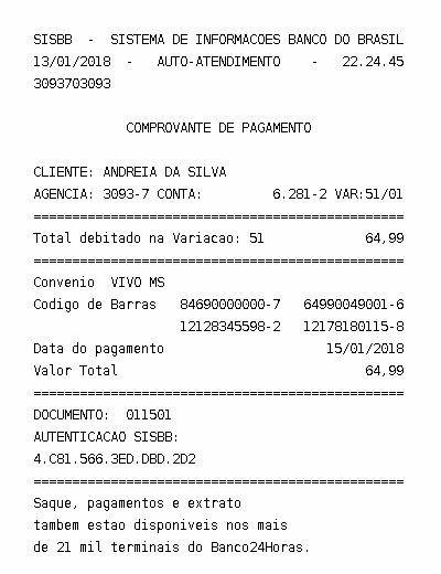Pin De Andreia Em Comprovante Pagamento Conta