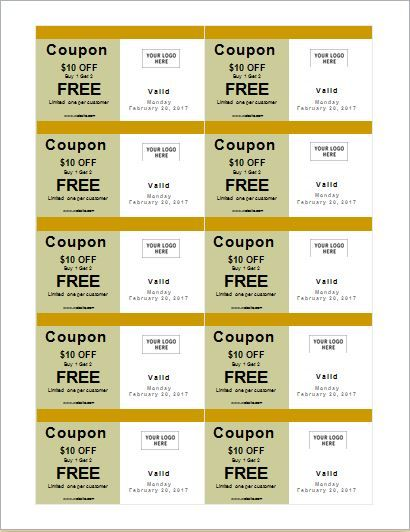 Coupon template for MS Word DOWNLOAD at    worddoxorg how-to - microsoft coupon template