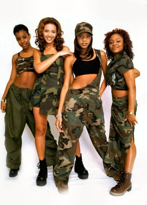 Destiny's Child in cargo and camouflage | 1990's Fashion: How to get the '90's style today!