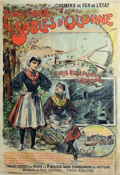 Louis Galice 1864 1935 Bains De Mer Des Sables D Olonne Circa 1900