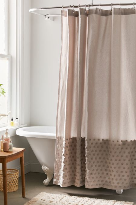 Tufted Dot Shower Curtain In 2020 Bathroom Shower Curtains