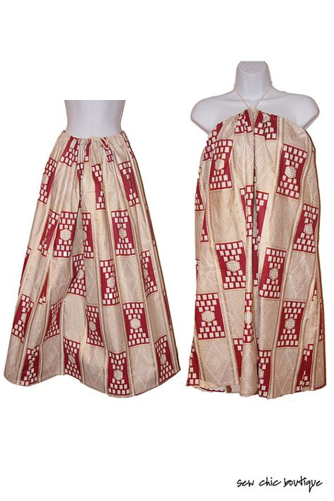 LONG SKIRT or dress Bohemian African Print by sewchicboutique