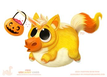 Daily Paint Unicandy Corn by Cryptid-Creations