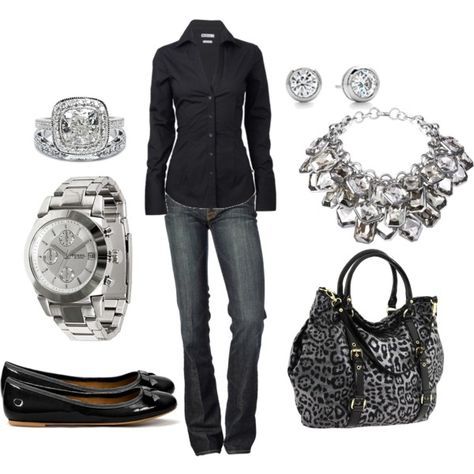 Simple Black, created by jnifr on Polyvore