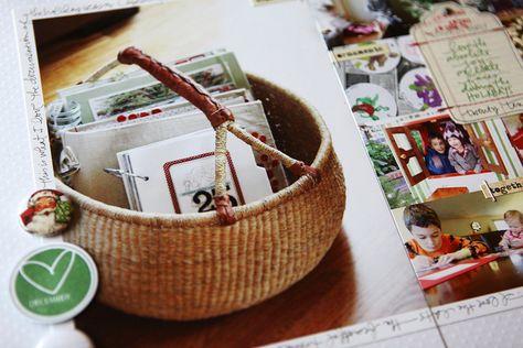 basket of december daily albums. ali edwards