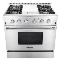 36 Stainless Steel Natural Gas Sealed Burner Range With Griddle
