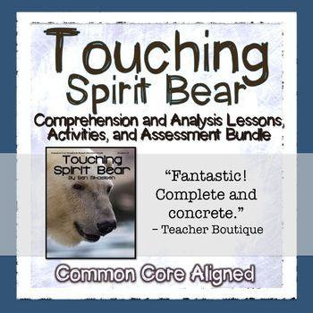Touching Spirit Bear Resource Bundle Google Digital Distance Learning Touching Spirit Bear Teaching Guides Novel Study Activities