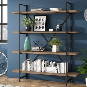 Champney 75 H X 63 W Etagere Bookcase Diy Home Decor Projects Living Room Diy Decor
